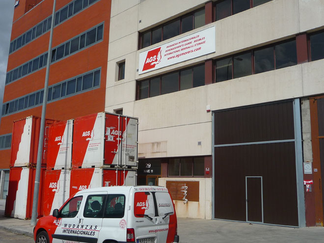 Warehouse premises of AGS Spain