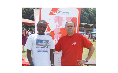 Accountant Chawezi Phiri and Luis Fernandez, Branch Manager of AGS Malawi
