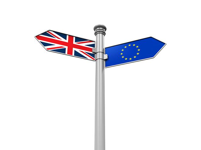 UK - EU Flags