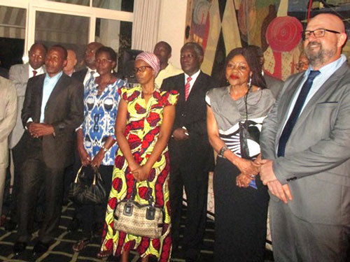 People at the inauguration of new premises in Gambia and Burundi