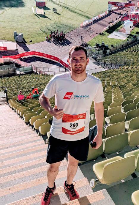 Corneliu Leahu of AGS Russia at the Generali Munich Marathon in Munich, Germany