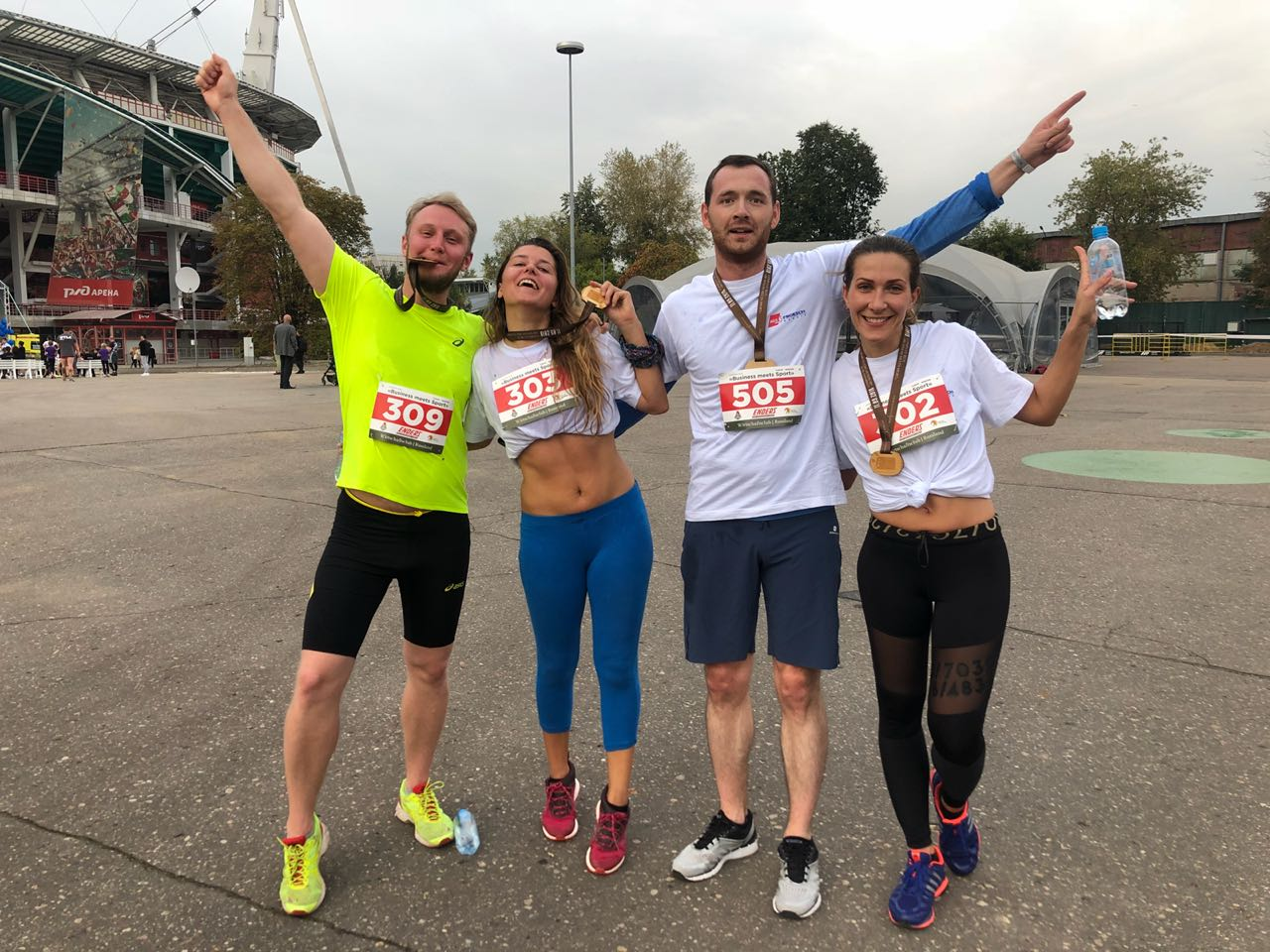 AGS Movers Russia team with their medals at the Wirtschaftsclub Run.