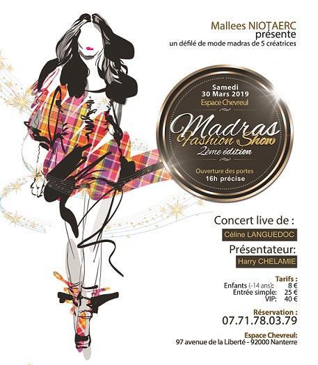 Affiche du Madras Fashion Show