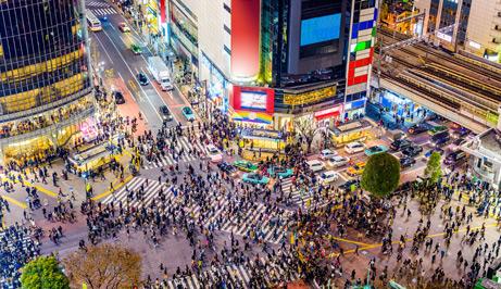 Shibuya Crosswalk in Tokyo, Japan